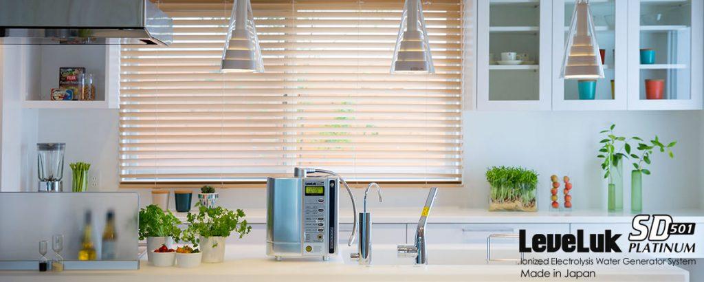 Máy lọc nước Kangen SD501 Platinum với dáng vẻ sang trọng