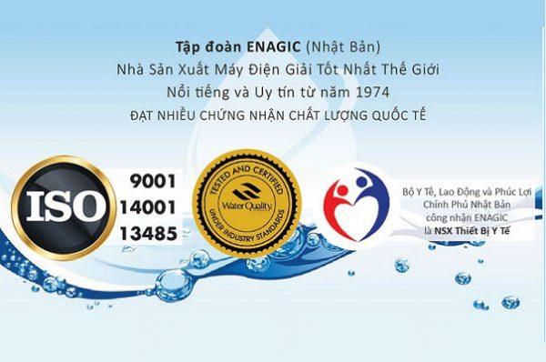 Tập đoàn Enagic là nhà sản xuất máy điện giải tốt nhất thế giới